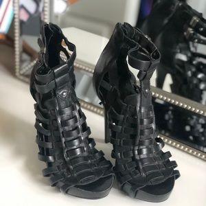 Leather Gladiator Heels